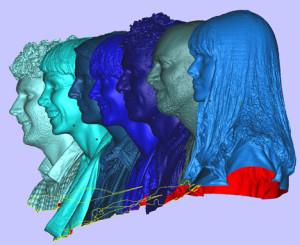 thiết kế đầu người 3D, scan 3D tượng người